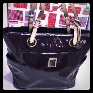 Large Grace Adele Patent Canvas Shoulder/Handbag
